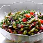 Salatka z zielonej fasolk...