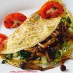 Omlet z grzybami shimeji...