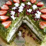 Tort szpinakowy z kremem ...