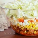 Salatka warstwowa z kurcz...