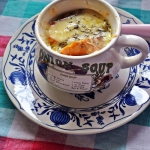 Zapiekana zupa cebulowa...