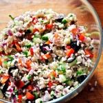 Ryzowa salatka z serem bl...