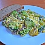 Jajecznica z brokulem i c...