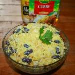 Sałatka curry z ryżem...