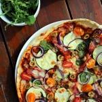 Pyszna pizza z cukinią...