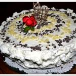 Tort czarno-bialy z pumpe...