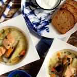 Zupa rybna z łososiem...