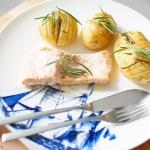 Pieczony losos i ziemniak...