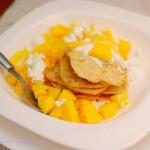 Placuszki owsiane z mango...