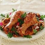 Kurczak na ryzu z pieczar...