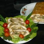 Rolada serowa  z pieczark...