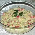 Salatka z surimi i ogorki...