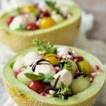 Salatka z melonem i mozza...