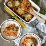 Spaghetti zapiekane z klo...