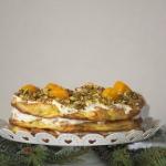Tort ptysiowy z brzoskwin...