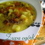 Zupa ogórkowa wg Aleex