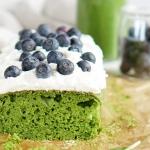 Zielone ciasto z kremem...