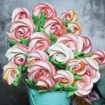 Bezowy bukiet roz
