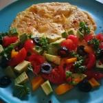 Omlet z awokado i pomidor...