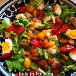 Salatka z grillowana papr...