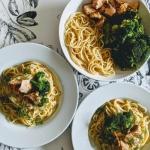 Spaghetti z łososiem i...