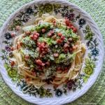 Spaghetti z brokułami i...