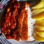 Łosos z sosem ze swiezyc...