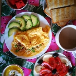 Zdrowe, letnie sniadanie ...