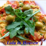 Wiosenny omlet z pomidora...