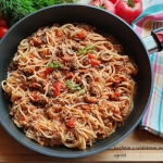 Spaghetti z mięsem...