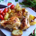 Kurczak pieczony z ziemni...