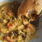 Gęsta zupa z małży,...
