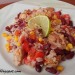 Potrawka z ryżu i indyka