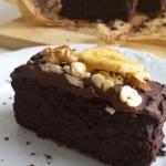 Mocno czekoladowe ciasto ...