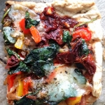 Pizza z mocarellą,...