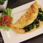 Omlet z szpinakiem