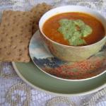 Zupa z fasolką i pesto...