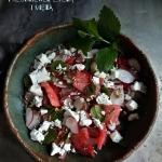 Salatka z arbuza i rzodki...