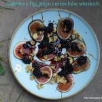 Sałatka z fig, jeżyn i...