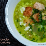 Gęsta zupa z łososiem...