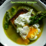 Zupa z zielonych  szparag...