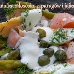 Salatka z lososia, szpara...