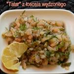 Tatar  z lososia wedzoneg...