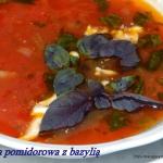 Zupa pomidorowa z bazylia...