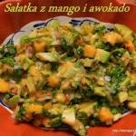 Salatka z mango i awokado...