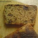 Chleb razowy z suszoną...