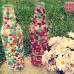 DIY mozaikowe butelki