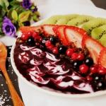 Pudding chia z jagodami...