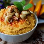 Hummus z pieczonej dyni...