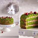 Zielony tort z...
